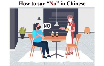 How to say No in Chinese